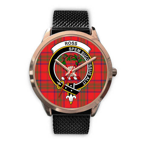 Ross Modern, Silver Metal Link Watch,  leather steel watch, tartan watch, tartan watches, clan watch, scotland watch, merry christmas, cyber Monday, halloween, black Friday
