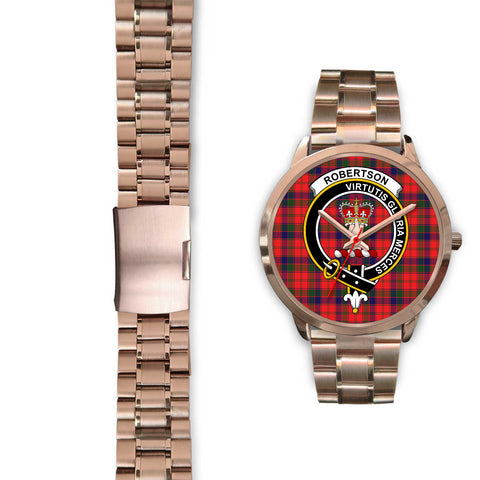 Robertson Modern, Black Leather Watch,  leather steel watch, tartan watch, tartan watches, clan watch, scotland watch, merry christmas, cyber Monday, halloween, black Friday