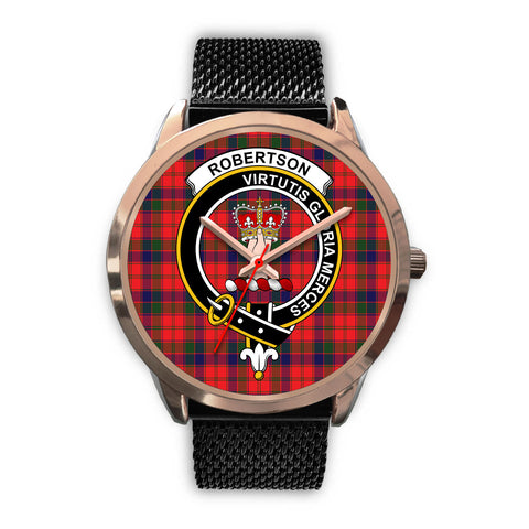 Image of Robertson Modern, Silver Metal Link Watch,  leather steel watch, tartan watch, tartan watches, clan watch, scotland watch, merry christmas, cyber Monday, halloween, black Friday
