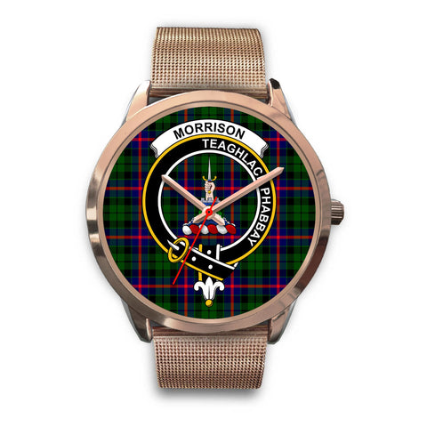 Morrison Modern, Black Leather Watch,  leather steel watch, tartan watch, tartan watches, clan watch, scotland watch, merry christmas, cyber Monday, halloween, black Friday