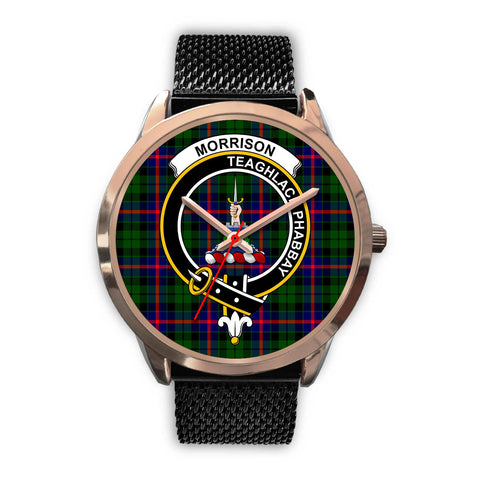 Morrison Modern, Silver Metal Link Watch,  leather steel watch, tartan watch, tartan watches, clan watch, scotland watch, merry christmas, cyber Monday, halloween, black Friday