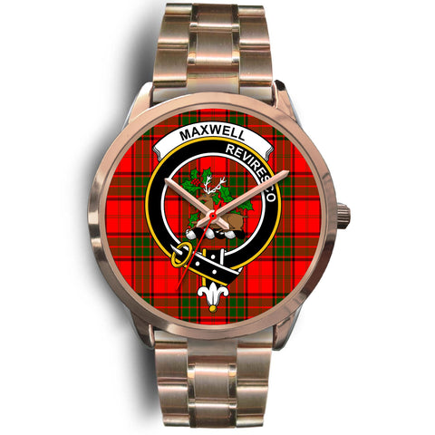 Maxwell Modern, Rose Gold Metal Link Watch,  leather steel watch, tartan watch, tartan watches, clan watch, scotland watch, merry christmas, cyber Monday, halloween, black Friday