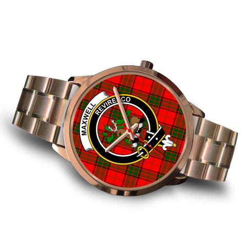 Maxwell Modern, Brown Leather Watch,  leather steel watch, tartan watch, tartan watches, clan watch, scotland watch, merry christmas, cyber Monday, halloween, black Friday