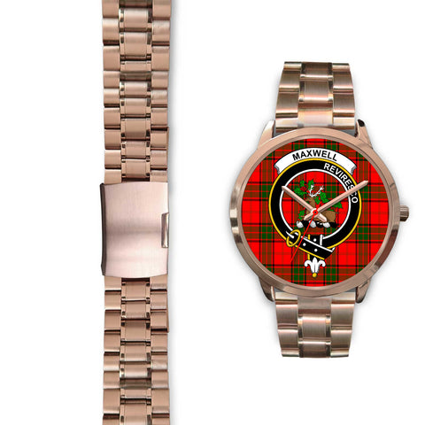 Maxwell Modern, Black Leather Watch,  leather steel watch, tartan watch, tartan watches, clan watch, scotland watch, merry christmas, cyber Monday, halloween, black Friday
