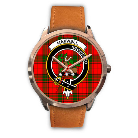 Maxwell Modern, Pink Leather Watch,  leather steel watch, tartan watch, tartan watches, clan watch, scotland watch, merry christmas, cyber Monday, halloween, black Friday