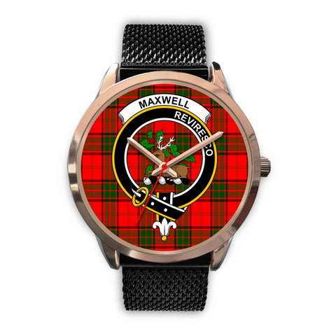 Maxwell Modern, Silver Metal Link Watch,  leather steel watch, tartan watch, tartan watches, clan watch, scotland watch, merry christmas, cyber Monday, halloween, black Friday