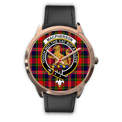 Image of MacPherson Modern, Black Metal Mesh Watch,  leather steel watch, tartan watch, tartan watches, clan watch, scotland watch, merry christmas, cyber Monday, halloween, black Friday