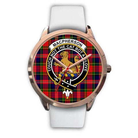 Image of MacPherson Modern, Black Metal Link Watch,  leather steel watch, tartan watch, tartan watches, clan watch, scotland watch, merry christmas, cyber Monday, halloween, black Friday