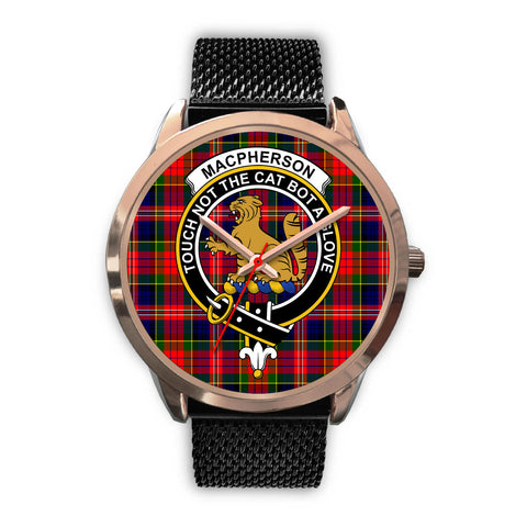 MacPherson Modern, Silver Metal Link Watch,  leather steel watch, tartan watch, tartan watches, clan watch, scotland watch, merry christmas, cyber Monday, halloween, black Friday