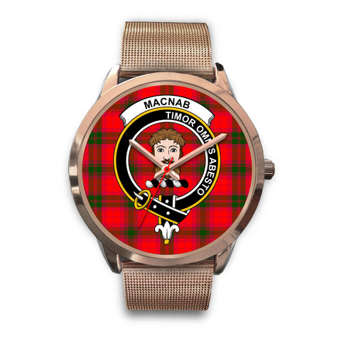 MacNab Modern, Brown Leather Watch,  leather steel watch, tartan watch, tartan watches, clan watch, scotland watch, merry christmas, cyber Monday, halloween, black Friday