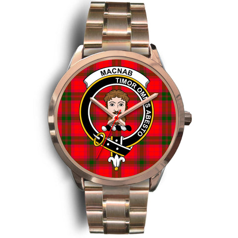 MacNab Modern, Rose Gold Metal Link Watch,  leather steel watch, tartan watch, tartan watches, clan watch, scotland watch, merry christmas, cyber Monday, halloween, black Friday