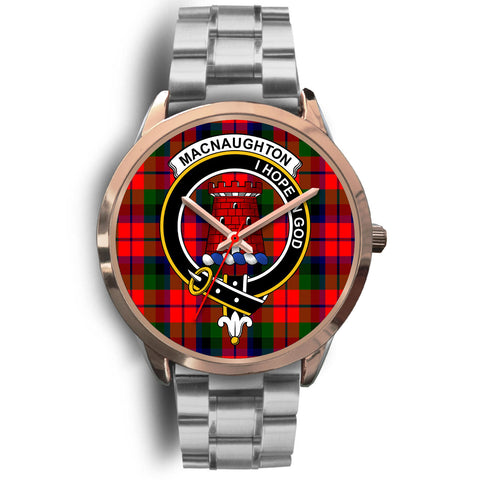 MacNaughton Modern, Brown Leather Watch,  leather steel watch, tartan watch, tartan watches, clan watch, scotland watch, merry christmas, cyber Monday, halloween, black Friday