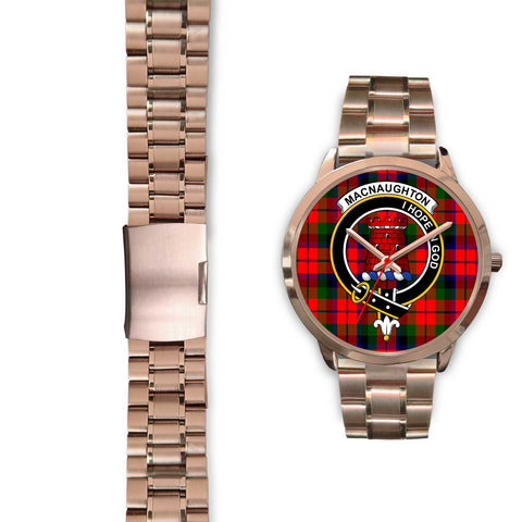MacNaughton Modern, Black Leather Watch,  leather steel watch, tartan watch, tartan watches, clan watch, scotland watch, merry christmas, cyber Monday, halloween, black Friday