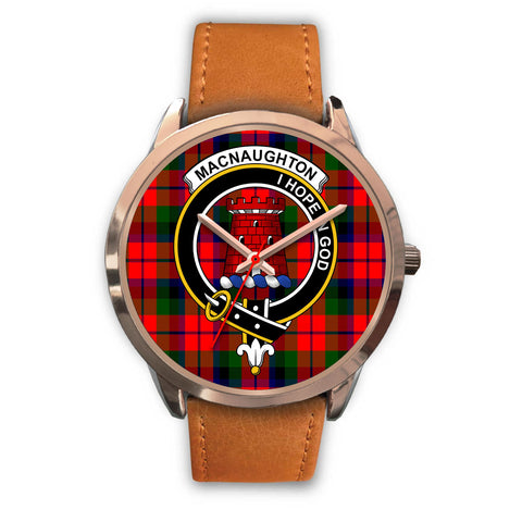 MacNaughton Modern, Pink Leather Watch,  leather steel watch, tartan watch, tartan watches, clan watch, scotland watch, merry christmas, cyber Monday, halloween, black Friday