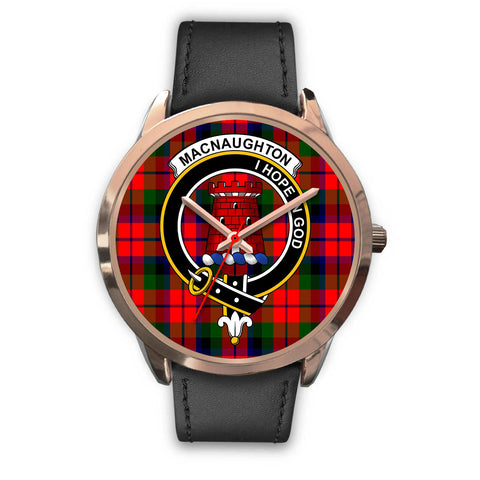 Image of MacNaughton Modern, Black Metal Mesh Watch,  leather steel watch, tartan watch, tartan watches, clan watch, scotland watch, merry christmas, cyber Monday, halloween, black Friday