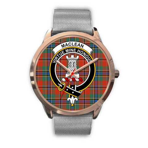 MacLean of Duart Ancient, Rose Gold Metal Link Watch,  leather steel watch, tartan watch, tartan watches, clan watch, scotland watch, merry christmas, cyber Monday, halloween, black Friday