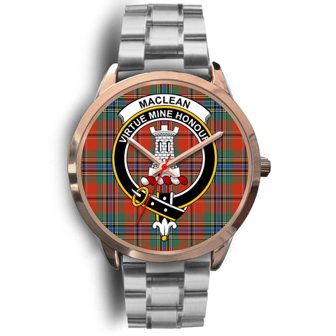 MacLean of Duart Ancient, Brown Leather Watch,  leather steel watch, tartan watch, tartan watches, clan watch, scotland watch, merry christmas, cyber Monday, halloween, black Friday