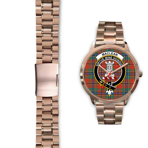 MacLean of Duart Ancient, Black Leather Watch,  leather steel watch, tartan watch, tartan watches, clan watch, scotland watch, merry christmas, cyber Monday, halloween, black Friday