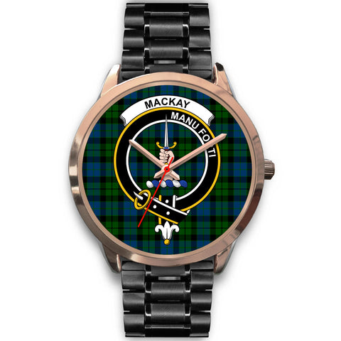 Image of MacKay Modern, Rose Gold Metal Mesh Watch,  leather steel watch, tartan watch, tartan watches, clan watch, scotland watch, merry christmas, cyber Monday, halloween, black Friday