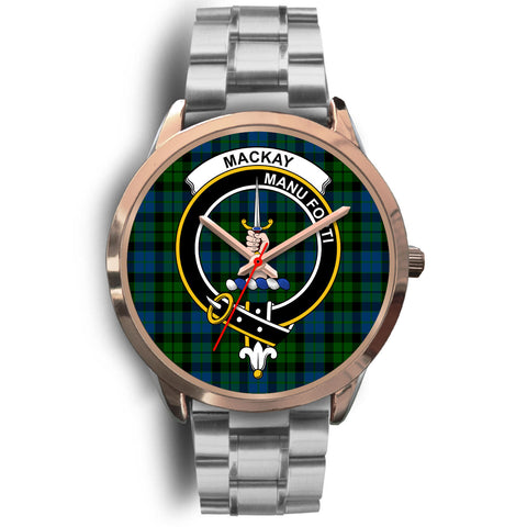 MacKay Modern, Brown Leather Watch,  leather steel watch, tartan watch, tartan watches, clan watch, scotland watch, merry christmas, cyber Monday, halloween, black Friday