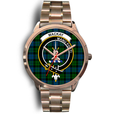 MacKay Modern, Rose Gold Metal Link Watch,  leather steel watch, tartan watch, tartan watches, clan watch, scotland watch, merry christmas, cyber Monday, halloween, black Friday