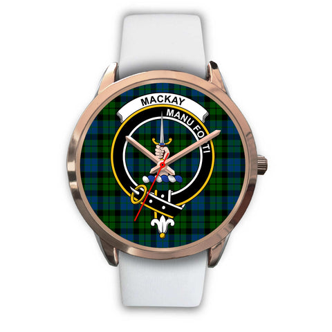 Image of MacKay Modern, Black Metal Link Watch,  leather steel watch, tartan watch, tartan watches, clan watch, scotland watch, merry christmas, cyber Monday, halloween, black Friday
