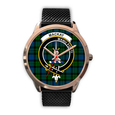 Image of MacKay Modern, Silver Metal Link Watch,  leather steel watch, tartan watch, tartan watches, clan watch, scotland watch, merry christmas, cyber Monday, halloween, black Friday