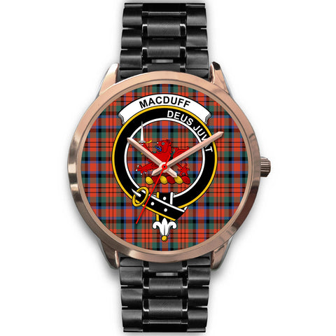 Image of MacDuff Ancient, Rose Gold Metal Mesh Watch,  leather steel watch, tartan watch, tartan watches, clan watch, scotland watch, merry christmas, cyber Monday, halloween, black Friday