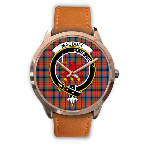 MacDuff Ancient, Pink Leather Watch,  leather steel watch, tartan watch, tartan watches, clan watch, scotland watch, merry christmas, cyber Monday, halloween, black Friday