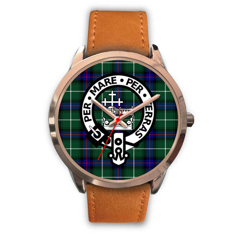 MacDonald of the Isles, Pink Leather Watch,  leather steel watch, tartan watch, tartan watches, clan watch, scotland watch, merry christmas, cyber Monday, halloween, black Friday