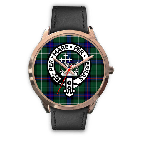 MacDonald of the Isles, Black Metal Mesh Watch,  leather steel watch, tartan watch, tartan watches, clan watch, scotland watch, merry christmas, cyber Monday, halloween, black Friday
