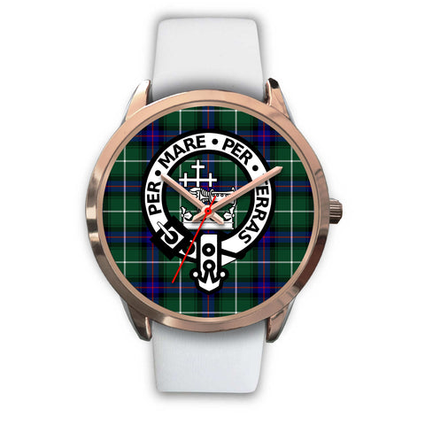 MacDonald of the Isles, Black Metal Link Watch,  leather steel watch, tartan watch, tartan watches, clan watch, scotland watch, merry christmas, cyber Monday, halloween, black Friday