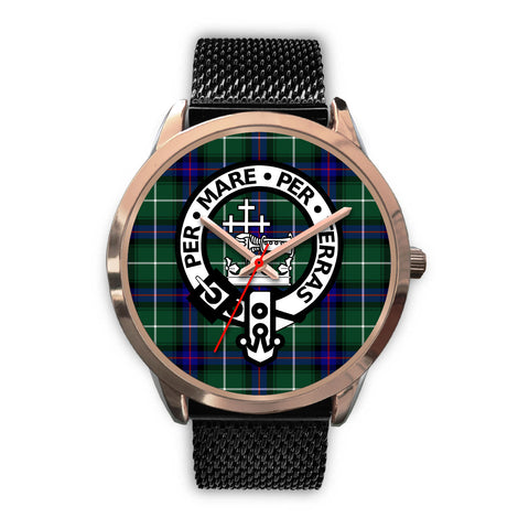 MacDonald of the Isles, Silver Metal Link Watch,  leather steel watch, tartan watch, tartan watches, clan watch, scotland watch, merry christmas, cyber Monday, halloween, black Friday