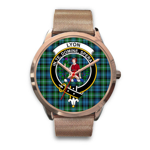 Lyon Clan, Black Leather Watch,  leather steel watch, tartan watch, tartan watches, clan watch, scotland watch, merry christmas, cyber Monday, halloween, black Friday