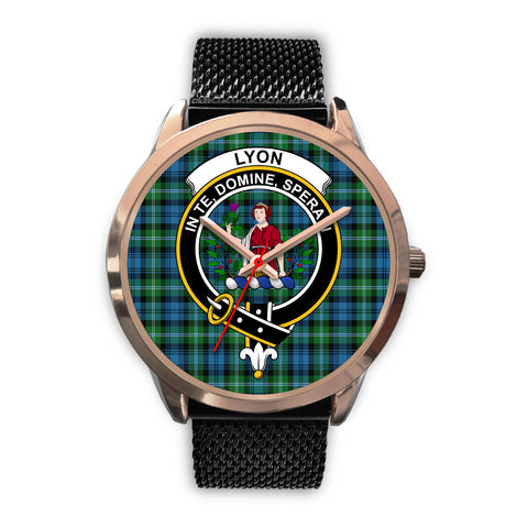 Lyon Clan, Silver Metal Link Watch,  leather steel watch, tartan watch, tartan watches, clan watch, scotland watch, merry christmas, cyber Monday, halloween, black Friday
