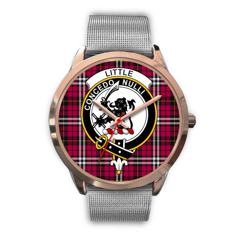 Little, Rose Gold Metal Link Watch,  leather steel watch, tartan watch, tartan watches, clan watch, scotland watch, merry christmas, cyber Monday, halloween, black Friday