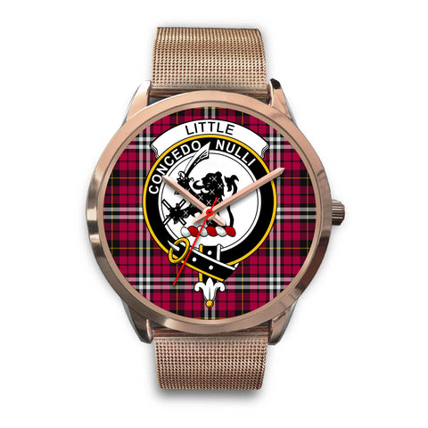 Little, Black Leather Watch,  leather steel watch, tartan watch, tartan watches, clan watch, scotland watch, merry christmas, cyber Monday, halloween, black Friday