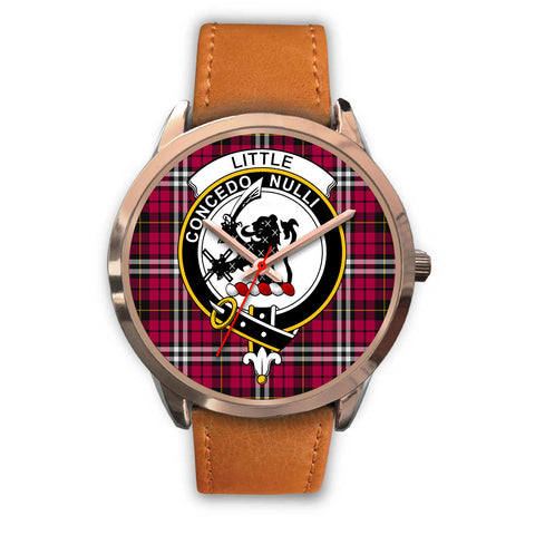 Little, Pink Leather Watch,  leather steel watch, tartan watch, tartan watches, clan watch, scotland watch, merry christmas, cyber Monday, halloween, black Friday