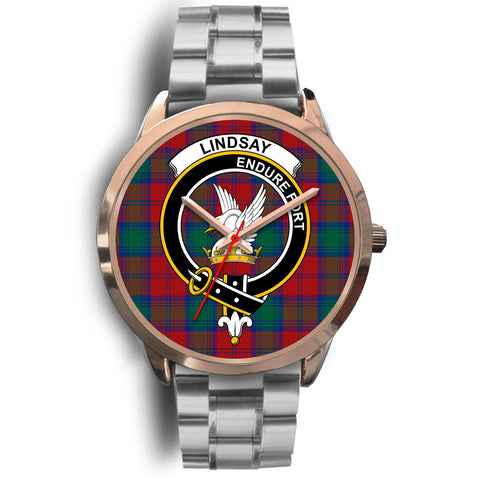 Lindsay Modern, Brown Leather Watch,  leather steel watch, tartan watch, tartan watches, clan watch, scotland watch, merry christmas, cyber Monday, halloween, black Friday