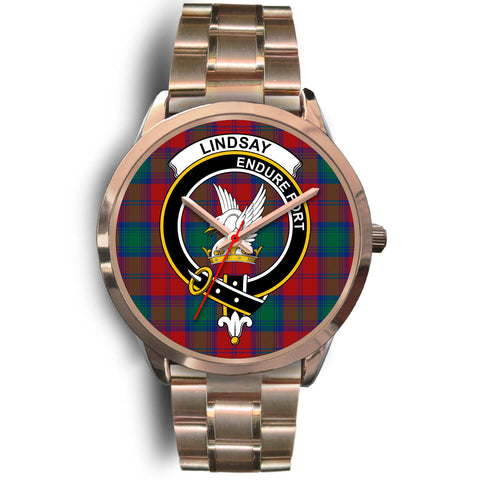 Lindsay Modern, Rose Gold Metal Link Watch,  leather steel watch, tartan watch, tartan watches, clan watch, scotland watch, merry christmas, cyber Monday, halloween, black Friday