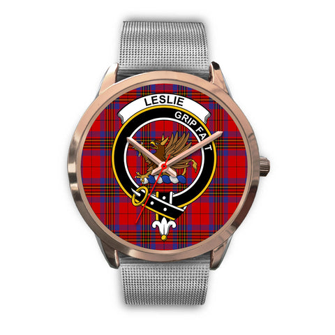 Leslie Modern, Rose Gold Metal Link Watch,  leather steel watch, tartan watch, tartan watches, clan watch, scotland watch, merry christmas, cyber Monday, halloween, black Friday