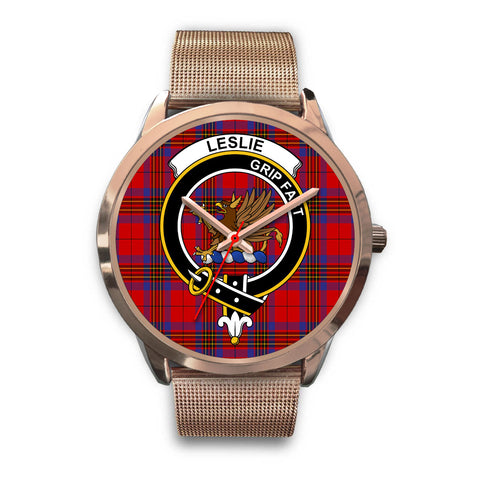 Image of Leslie Modern, Black Leather Watch,  leather steel watch, tartan watch, tartan watches, clan watch, scotland watch, merry christmas, cyber Monday, halloween, black Friday
