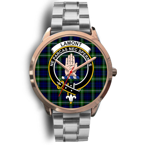 Lamont Modern, Brown Leather Watch,  leather steel watch, tartan watch, tartan watches, clan watch, scotland watch, merry christmas, cyber Monday, halloween, black Friday