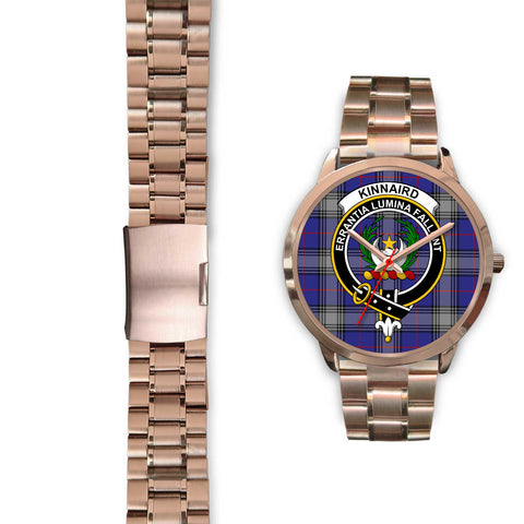Kinnaird, Black Leather Watch,  leather steel watch, tartan watch, tartan watches, clan watch, scotland watch, merry christmas, cyber Monday, halloween, black Friday