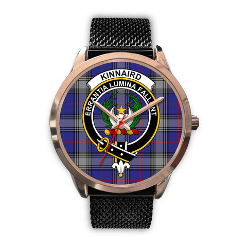 Kinnaird, Silver Metal Link Watch,  leather steel watch, tartan watch, tartan watches, clan watch, scotland watch, merry christmas, cyber Monday, halloween, black Friday