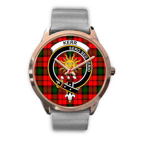 Kerr Modern, Rose Gold Metal Link Watch,  leather steel watch, tartan watch, tartan watches, clan watch, scotland watch, merry christmas, cyber Monday, halloween, black Friday