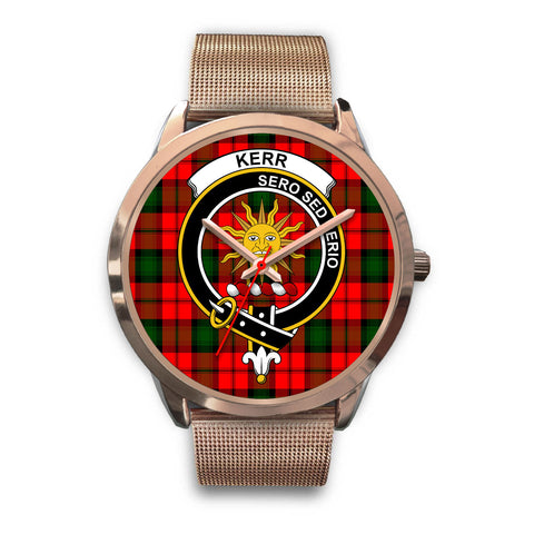 Kerr Modern, Black Leather Watch,  leather steel watch, tartan watch, tartan watches, clan watch, scotland watch, merry christmas, cyber Monday, halloween, black Friday