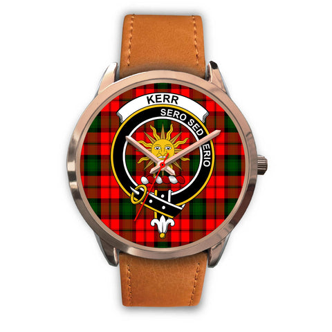 Kerr Modern, Pink Leather Watch,  leather steel watch, tartan watch, tartan watches, clan watch, scotland watch, merry christmas, cyber Monday, halloween, black Friday