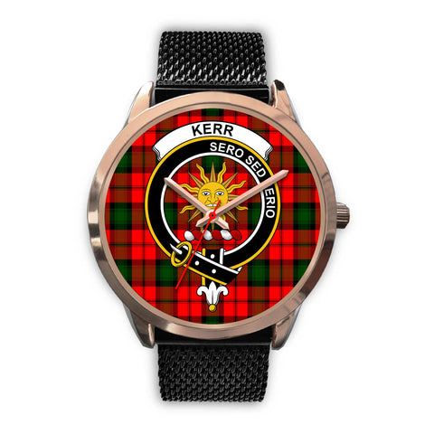 Kerr Modern, Silver Metal Link Watch,  leather steel watch, tartan watch, tartan watches, clan watch, scotland watch, merry christmas, cyber Monday, halloween, black Friday