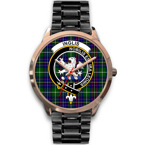 Image of Inglis Modern, Rose Gold Metal Mesh Watch,  leather steel watch, tartan watch, tartan watches, clan watch, scotland watch, merry christmas, cyber Monday, halloween, black Friday